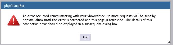 vbox Fehlermeldung start